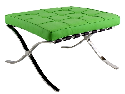 Image of the design chair Ottoman Barcelona - Apple green