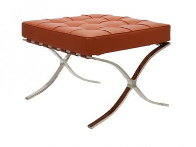 Image of the design chair Ottoman Barcelona - Cognac
