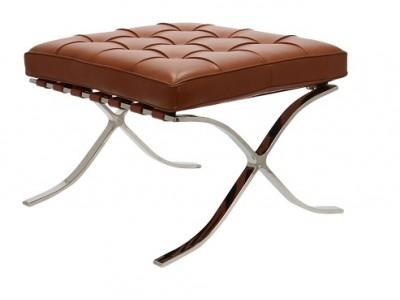 Image of the design chair Ottoman Barcelona - Premium Cognac