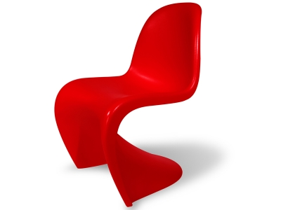 Image of the design chair Panton chair - Red