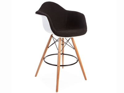 Image of the design chair Wool padded DAB bar chair - Grey
