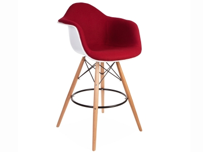 Image of the design chair Wool padded DAB bar chair - Rouge