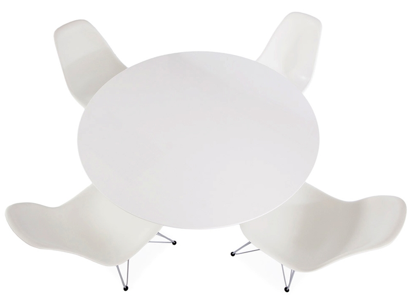 Image of the design furniture Cyclone table Noguchi & 4 chairs