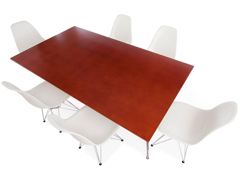 Image of the design furniture Eames table Contract and 6 chairs