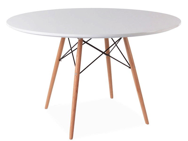 Image of the design furniture Eames table WDW and 4 chairs