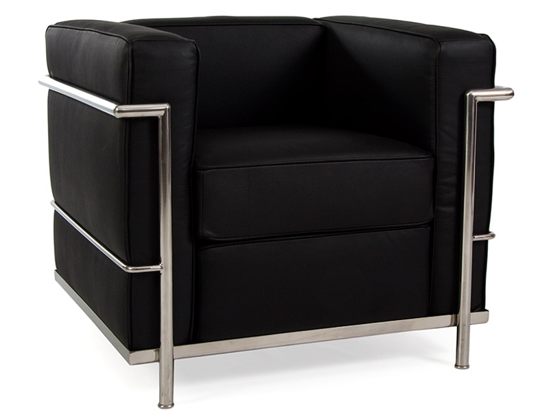 Image of the design furniture LC2 chair Le Corbusier - Black