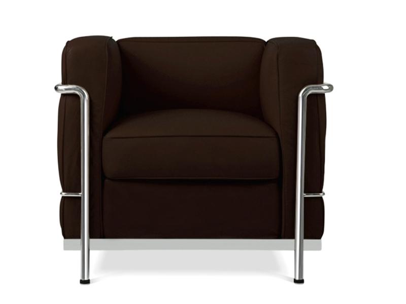 lc2 chair le corbusier brown. Black Bedroom Furniture Sets. Home Design Ideas