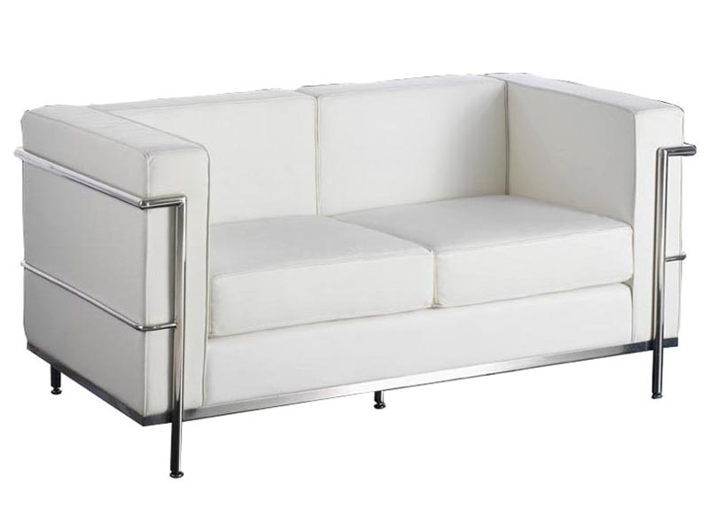 Image of the design furniture LC2 Le Corbusier 2 Seater - White