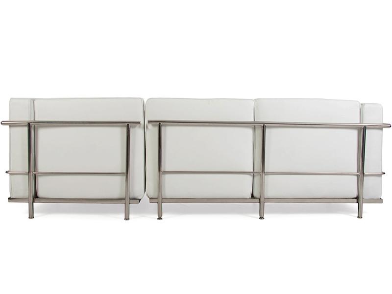 lc2 le corbusier corner sofa white. Black Bedroom Furniture Sets. Home Design Ideas