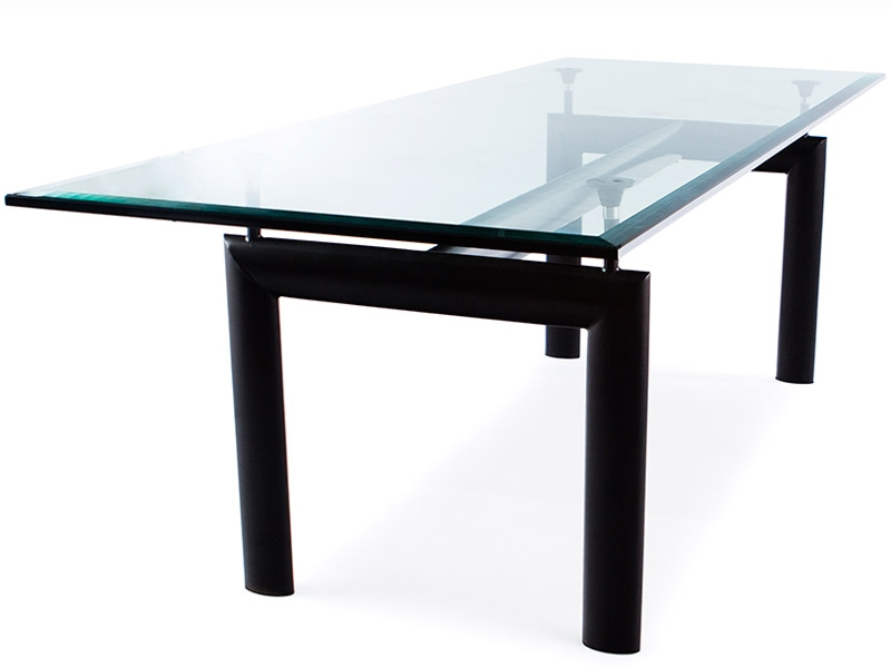 Image of the design furniture LC6 Le Corbusier table and 6 chairs