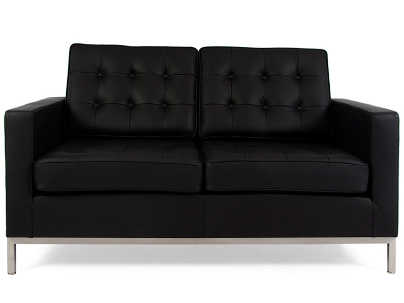 Image of the design furniture Lounge Knoll 2 Seater - Black