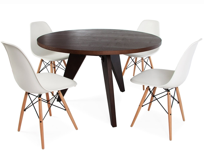 Image of the design furniture Table Prouvé round and 4 Chairs