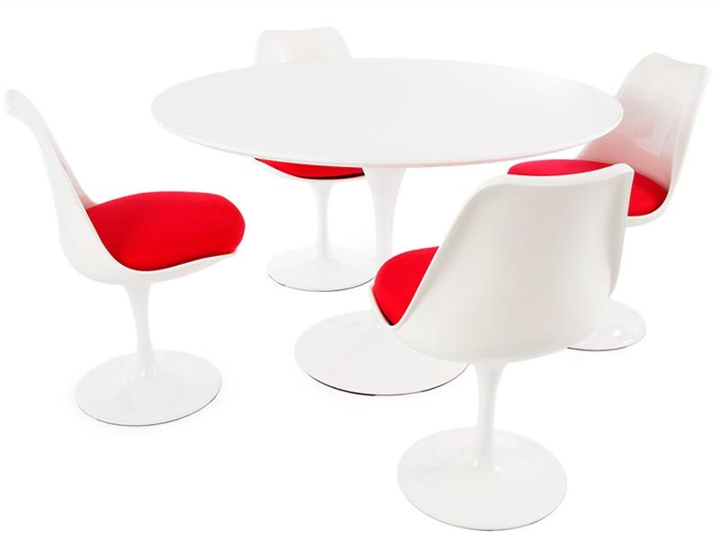 Tulip table Saarinen and 4 chairs