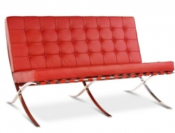 Image of the design furniture Barcelona sofa 2 seater - Red