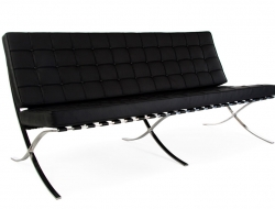 Image of the design furniture Barcelona sofa 3 seater - Black