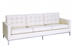 Image of the design furniture Knoll Lounge  3 Seater - White