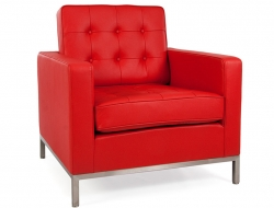 Image of the design furniture Knoll Lounge Chair - Red