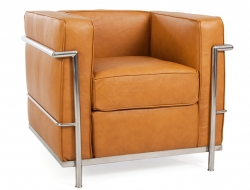 Image of the design furniture  LC2 chair Le Corbusier - Tan