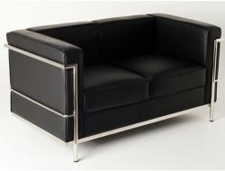 Image of the design furniture LC2 Le Corbusier 2 Seater - Black