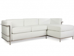 Image of the design furniture LC2 Le Corbusier corner sofa - White