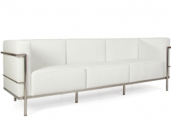 Image of the design furniture LC3 3 seater Le Corbusier Large - White