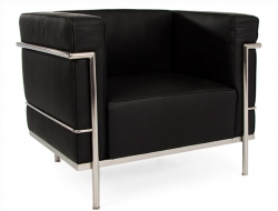 Image of the design furniture LC3 Chair Large Le Corbusier - Black