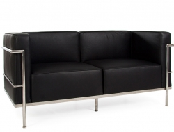 Image of the design furniture LC3  Le Corbusier 2 Seater Large - Black