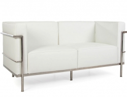 Image of the design furniture LC3 Le Corbusier 2 Seater Large-White