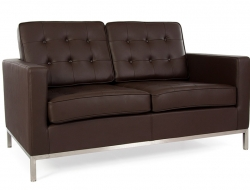 Image of the design furniture Lounge Knoll 2 Seater - Brown