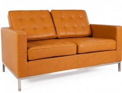 Image of the design furniture Lounge Knoll 2 Seater - Caramello