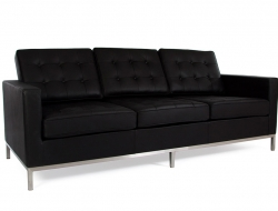 Image of the design furniture Lounge Knoll 3 Seater - Black