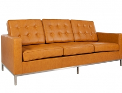 Image of the design furniture Lounge Knoll 3 Seater - Caramello