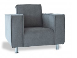 """Image of the design furniture Poleric armchair - gray wool """"Elephant"""""""