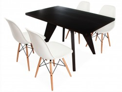 Image of the design furniture Prouvé table and 4 chairs