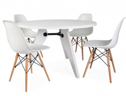 Image of the design furniture Round table Prouvé and 4 chairs