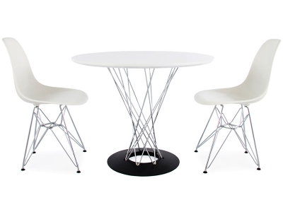 Image of the design furniture Cyclone table Noguchi & 2 chairs