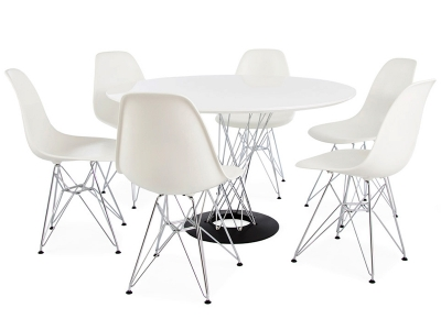 Image of the design furniture Cyclone table Noguchi & 6 chairs