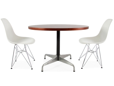 Image of the design furniture Eames table Contract and 2 chairs