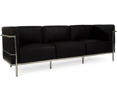 Image of the design furniture LC2 3 seater Le Corbusier Large - Black