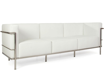 Image of the design furniture LC2 3 seater Le Corbusier Large - White
