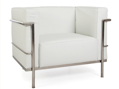Image of the design furniture  LC2 Chair Large Le Corbusier - White