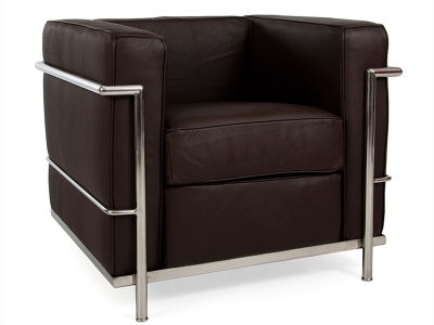 Image of the design furniture LC2 Chair Le Corbusier - Brown