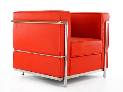 Image of the design furniture LC2 Chair Le Corbusier - Red