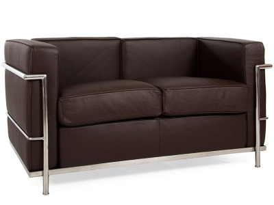 Image of the design furniture LC2 Le Corbusier 2 Seater - Brown