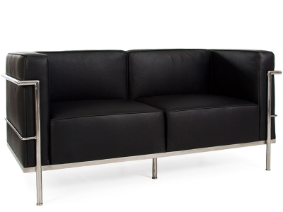 Image of the design furniture LC2 Le Corbusier 2 Seater Large - Black