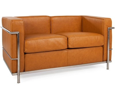 Image of the design furniture LC2 Le Corbusier 2 seater - Tan