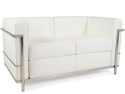 Image of the design furniture LC2 Le Corbusier 2 Seater - White
