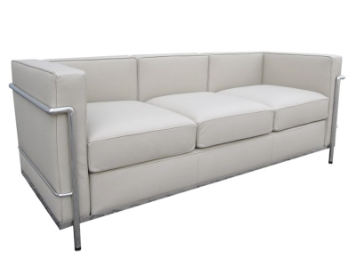 Image of the design furniture LC2 Le Corbusier 3 Seater - White