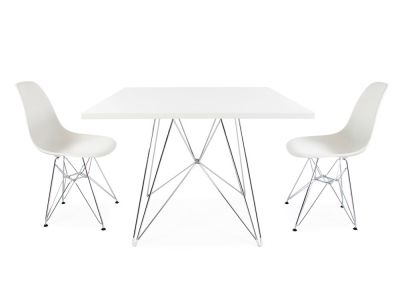 Image of the design furniture Square table Eiffel and 2 chairs