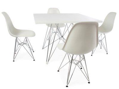 Image of the design furniture Square table Eiffel and 4 chairs